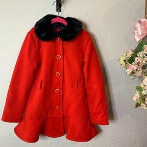 Girl's Cat & Jack Winter Coat w/ Removable Collar